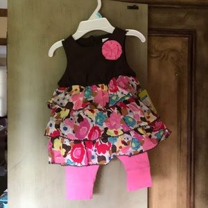 3month dress with leggings